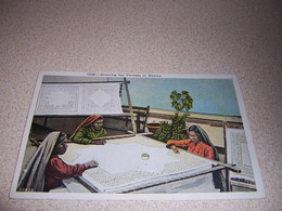 1920s WOMEN DRAWING The THREADS In MEXICO ANTIQUE POSTCARD - Messico