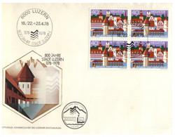 (Q 14 B) Switzerland (2 Covers) Luzern FDC 1978 - FDC