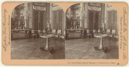 France ~ FONTAINEBLEAU ~ Salon Of Napoleon In 1895 Stereoview 1669 68 21767 - Stereo-Photographie