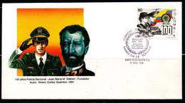 COLOMBIA- KOLUMBIEN- 1991. FDC/SPD. NATIONAL POLICE, 100 YEARS - Kolumbien