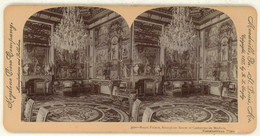 France ~ FONTAINEBLEAU Reception Room Catherine De Medicis Stereoview 3100 21766 - Stereo-Photographie
