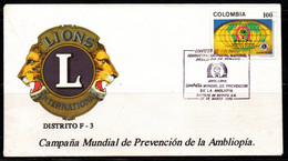 COLOMBIA- KOLUMBIEN- 1993. FDC/SPD. LIONS CLUB - AMBLIOPIA - Colombia
