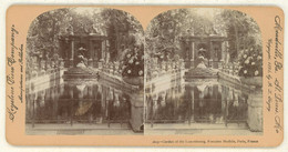 France ~ PARIS ~ Garden Of The Luxembourg Fontaine Medicis Stereoview 1613 21773 - Stereo-Photographie