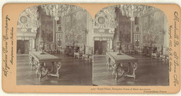 France ~ FONTAINEBLEAU ~ Reception Room Marie Antoinette Stereoview 3107 21763 - Stereo-Photographie