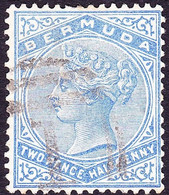 BERMUDA 1883 QV  2½d Pale Ultramarine SG27b Used - Bermudas