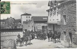 BUSSIERES - Sortie De L'Usine Perraud - Otros Municipios