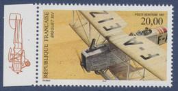 N° 61a Biplan Bréguet XIV Faciale 20 F - 1960-.... Postfris