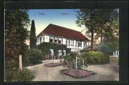 AK Iburg, Blick Zum Forsthaus Mit Idyllischer Gartenpartie - Chasse