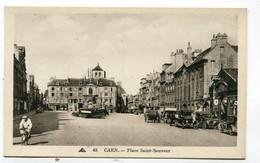CPA   14 : CAEN Place St Sauveur Et Agence Ford  A  VOIR   !!!! - Caen