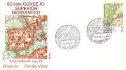 CONSEJO SUPERIOR GEOGRAFICO ESPANA 1974 CONER FDC  MADRID       (SETT200807) - Geography