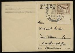 WW II DR Postkarte : Gebraucht Mit Sommer Olympiade Sonderstempel Olympisches Dorf Berlin - Zwickau 1936, Stempelbeleg - Duitsland
