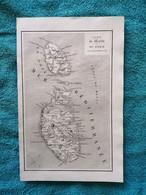 MalteMalta : Carte De 1848 Par Duvotenay Et D'Avezac «Iles De Malte Et Du Goze» - Mapas Geográficas
