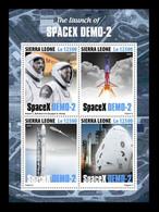 Sierra Leone 2020 Mih. 11973/76 Space. SpaceX Demo-2 MNH ** - Sierra Leone (1961-...)