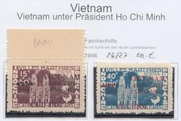 Vietnam 1946 Mi 26 – 27 Overprint MNH - Vietnam