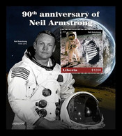 Liberia 2020 Mih. 7785 (Bl.846) Space. Astronaut Neil Armstrong MNH ** - Liberia