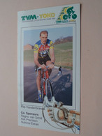 FLIP VANDENBRANDE ( TVM - YOKO Cycle Racing Team 1990 ) Wielrenner / Coureur ( Form. 20,5 X 11 Cm ) ! - Cycling