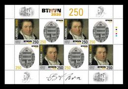 Liberia 2020 Mih. 7812 Music. Composer Ludwig Van Beethoven (M/S) MNH ** - Liberia