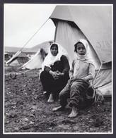 PALESTINIAN REFUGEES CAMP PRESS PHOTO (not Postcard) Size 18 X 21 Cm East Jordan Palestine Arab 1968 - Palästina