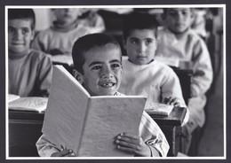 PALESTINIAN REFUGEES CAMP PRESS PHOTO (not Postcard) Size 17 X 24 Cm School In Dera Palestine Arab - Palästina