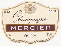 Etiquette Champagne MERCIER à Epernay / BRUT - Champagne