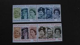 GREAT BRITAIN SG 1316-19 QUEEN ELIZABETH II 60 BIRTHDAY - Autres