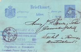 NED. INDIE - BRIEFKAART 5 CENT 1900 > SUHL/GERMANY /AA4* - Niederländisch-Indien