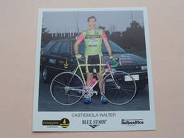 CASTIGNOLA WALTER ( NAVIGARE * BLUE STORM * ITALBONIFICA ) Carte Format 10,5 X 11,5 Cm. ( Blanco Rug ) ! - Radsport