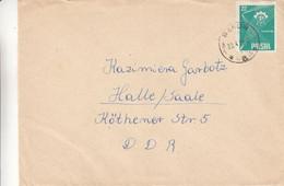 Pologne - Lettre De 1958 - Oblit Bakow - - Storia Postale