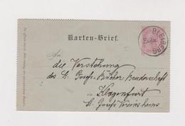 AUSTRIA WARTBERG 1897 Postal Stationery - Covers & Documents