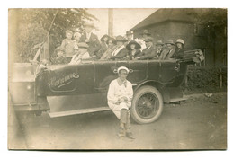 Well Animated And Untitled CHARABANC With Driver - Faded RPPC - Toerisme