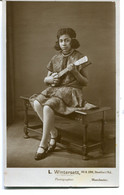 UNITED KINGDOM Untitled RPPC Of Youn Girl With Musical Instument. Manchester Photographer - Social History - Postkaarten
