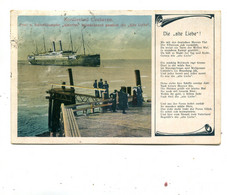 GERMANY - Nordseebad Cuxhaven - Post U.Schnelldampfer Anierika -itcimkehrend Passiertdie Alte Licbe 1920 VG PMs - Ships