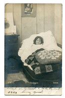 ARGENTINA - Postmark - Girl In Bed  COUCHER - RPPC - Undivided Rear - Fantasie