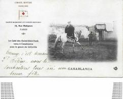 Croix Rouge - Le Caid Des Ouled -Sidi- Cheik Venu à Casablanca Avec Le Goum De Géryville - Unclassified