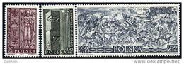 POLAND 1960 Battle Of Grünwald Set Of 3 MNH / **  Michel 1174-76 - Ungebraucht