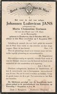 Zonhoven, 1937, Johannes Jans, Gorissen - Devotion Images