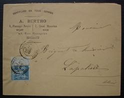 A. Bertho Dentelles En Tous Genres, Vichy, Nice Biarritz, Oblitération Vichy, Sans Date, Pour Lapalisse - 1877-1920: Periodo Semi Moderno