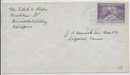 PHILIPPINES - 1950 - TIMBRE UPU Sur ENVELOPPE De GUINOBATAN ALBAY => KANSAS (USA) - Philippinen