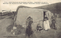 Equihen - Environs De Boulogne Sur Mer - Quartier Des Quilles En L'air, Barques Renversé Servant D'habitation - E.S 1726 - Sonstige Gemeinden