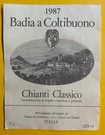 15982 - Badia A Coltibuono 1987 Chianti Classico - Other