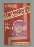 PARTITION MUSICALE Ancienne @ Musique ARTISTE Chanson @  Edith PIAF C'étais Un Jour De Fête - Scores & Partitions