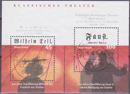 """Deutschland 2004. Klassisches Theater: Schiller, """"Wilhelm Tell"""", Goethe, """"Faust II"""", Mi Block 65 Gebraucht - Bloques"""