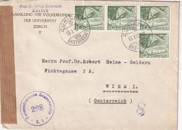SUISSE 1950 LETTRE CENSUREE DE ZURICH POUR WIEN - Covers & Documents