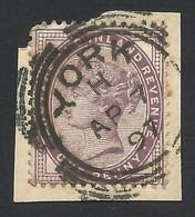 Great Britain, 1 P. 1881, Sc # 89, Mi # 65II, Used, York - Gebruikt