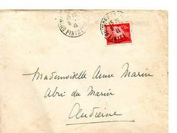 E 6 1941  Lettre+ Courrier Pour L'abri Du Marin A Audierne ( 29 ) - Guerre De 1939-45