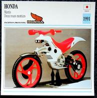 Collection Fiches ATLAS - MOTO - HONDA MANTIS 2 Roues Motrices - 1991 - Autres