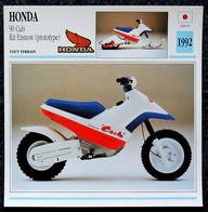 Collection Fiches ATLAS - MOTO - HONDA 90 Cub Kit Ezsnow - 1992 - Autres