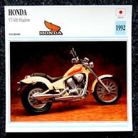 Collection Fiches ATLAS - MOTO - HONDA VT 600 Shadow - 1992 - Autres