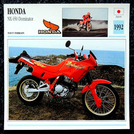Collection Fiches ATLAS - MOTO - HONDA NX 650 Dominator - 1992 - Autres
