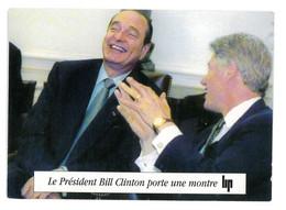 CPM PUBLICITAIRE LIP LE PRESIDENT BILL CLINTON PORTE UNE MONTRE LIP 1995 - Reclame